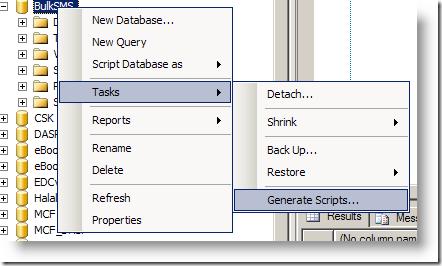 SQLExpress Generate Script image