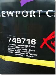 Jayross Bus Number